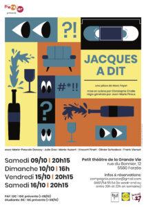 """La cie.Parazar présente: """"Jacques a dit"""" @ Le petit Théâtre de le Grande Vie"""
